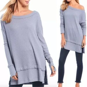 We the Free North Shore Thermal Tunic Storm Grey